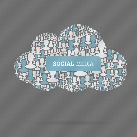 Social Media Concept. Cloud technology, vector, EPS10