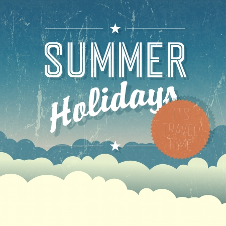summer sale: Summer Holidays Poster. Vector