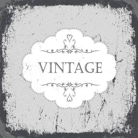 gamut: Vintage grunge card in monochrome gamut. Vector