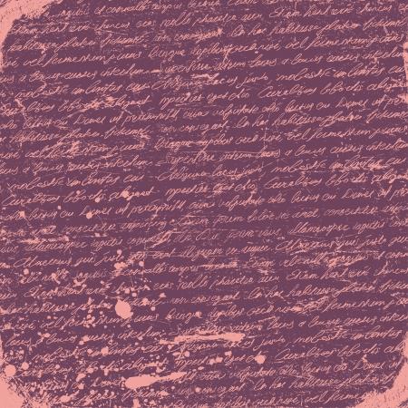 dopisní papír: Romantické grunge rukopis pozadí. Vektor Ilustrace