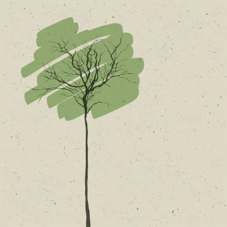 crone: Stylized tree. Abstract background.