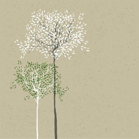 branch to grow up: Los �rboles de fondo El tronco y las hojas en capas separadas