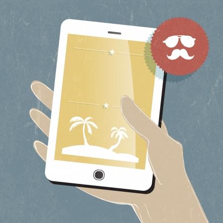 Summer travel conceptual illustration Stock Vector - 20145989
