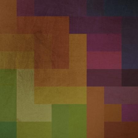 Vintage grunge multiple colored rectangles background. photo