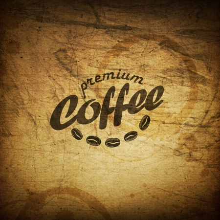 Coffee grunge retro background photo
