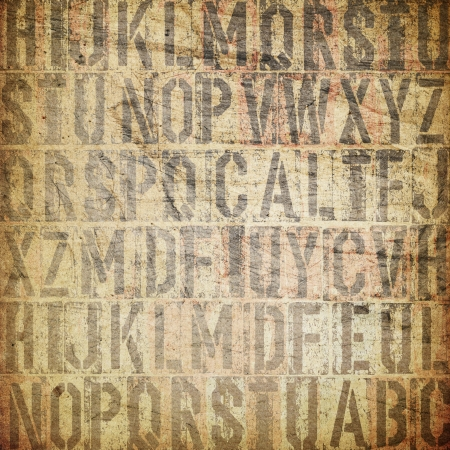 prinitng block: letterpress vintage grunge background