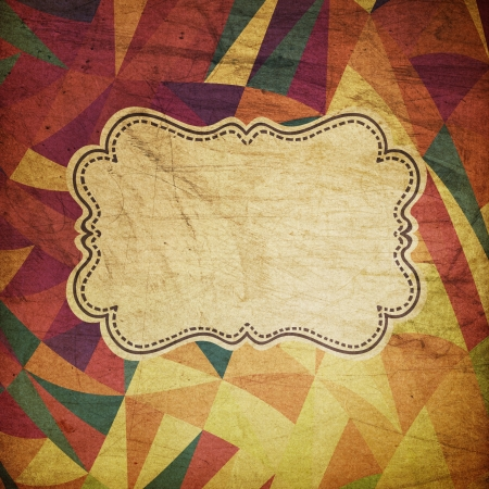 виньетка: Ретро гранж фон цирк