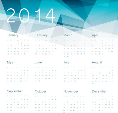 Calendar 2014. Vector. Vector