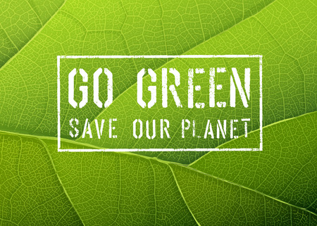 on the go: Go Green Poster, Vector