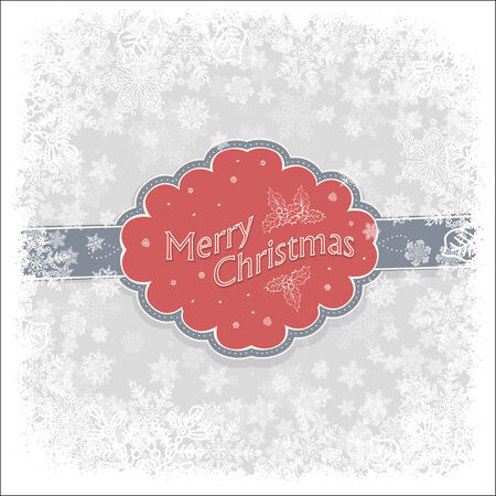 Merry Christmas greeting background, vector. Vector