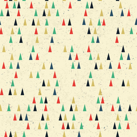 recycled paper: Geometric retro seamless pattern. Vector Illustration