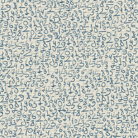 Hand-drawn seamless pattern. Realistic, vector Illustration
