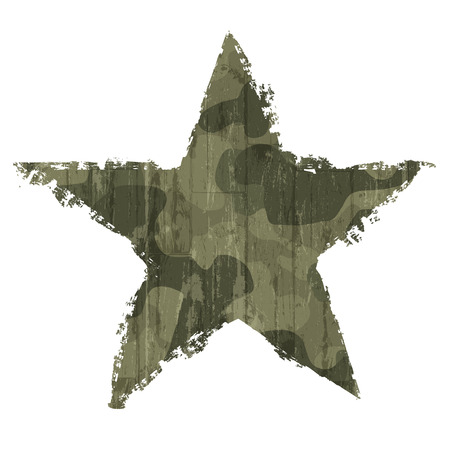 army background: Camouflage star symbol. Vector, EPS10 Illustration