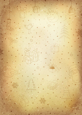 Vintage Christmas Background.  Vector