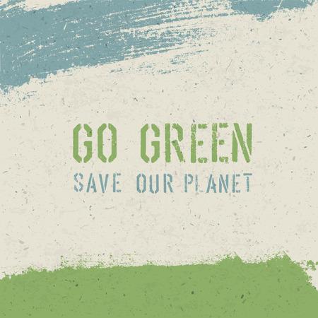 Go green concept. Vector