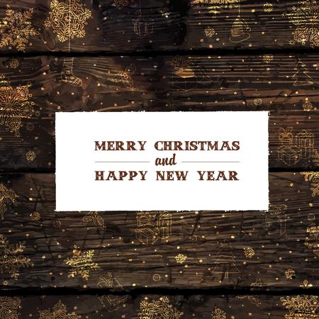 Retro Styled Christmas Card Design Template. Vector. Illustration
