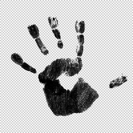 Handprint, vector, isolated.
