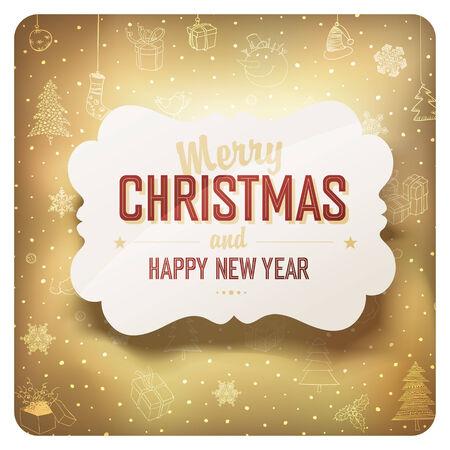christmas cards: Merry Christmas Card, vector.