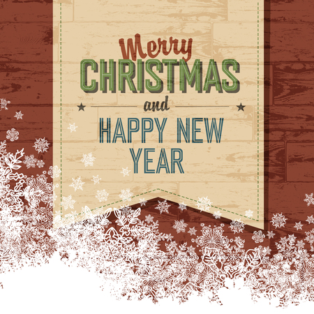 mas: Merry Christmas Design Template With Isolated Side.Vector