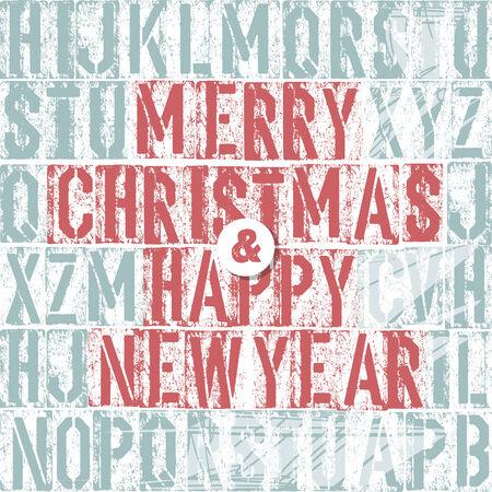 m�quina de escribir vieja: Feliz Navidad Letterpress Concepto