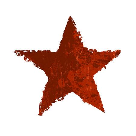 soviet: Red grunge star. Vector
