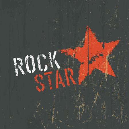 rock stone: Rock Star Illustration. Vector