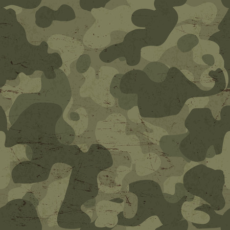 army background: Military camouflage seamless pattern. Vector Illustration