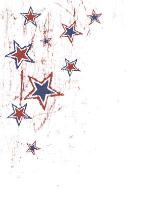 Stars on scratched grunge texture. Vector Vector