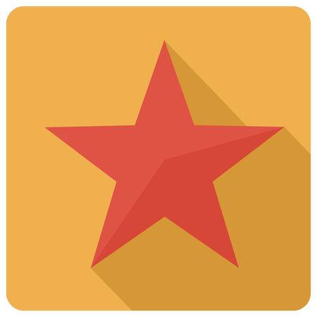 war decoration: Flat star icon, vector Illustration