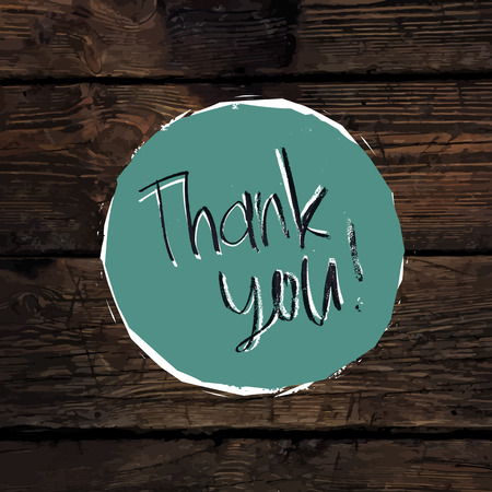 thank you very much: Thank You Card On Hardwood Texture. Vector