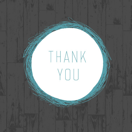 thank you very much: Thank you vintage greeting card with wooden background. Vector Illustration