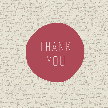 thank you note: Thank you vintage greeting card. Vector