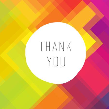 Thank you card colorful, vector Stock Vector - 33734213