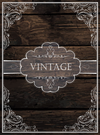 rustic: Vintage Card Design. Vector
