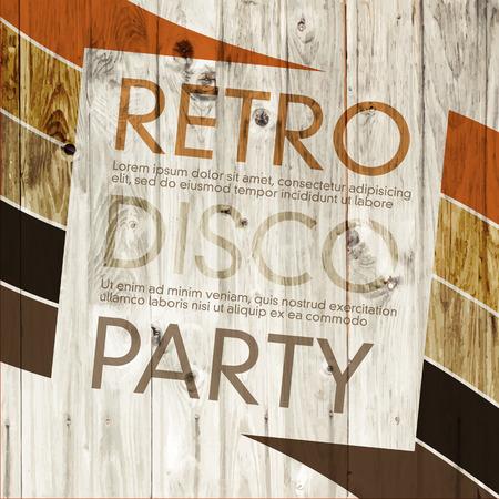 funky music: Disco Retro Party Illustration
