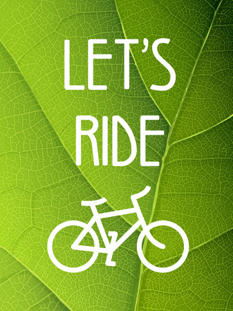 go green icons: Ecology bicycle poster illustration.