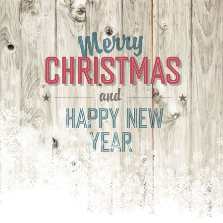Merry Christmas Design Template With Isolated Side Vector