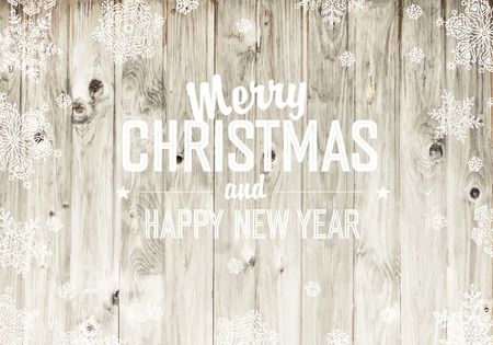lightsome: Merry Christmas Greeting On Wooden Fence Texture