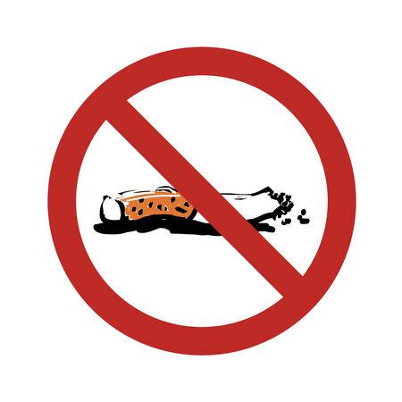 abstain: No Smoking Sign Illustration Illustration