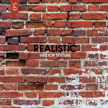 Red aged brick traced texture Banco de Imagens - 34143316