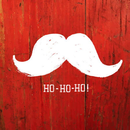 moustache: White Santa