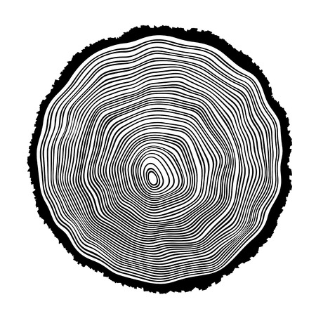 rings on a tree: Tree rings background illustration