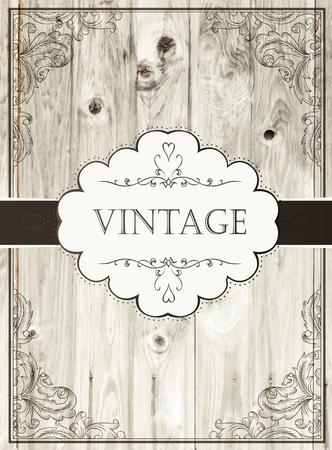 ribon: Vintage card template
