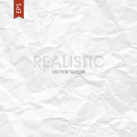 wrinkle: Crumpled paper texture. Vector