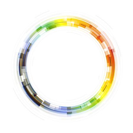 chromatique: Symbole de cercle transparent color�. Mod�le de couvertures, affiches, rapports annuels, etc. Illustration