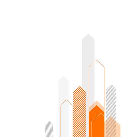 抽象的なビジネス背景を定型化された矢印。カバー本、パンフレット、アニュアル レポート等。  イラスト・ベクター素材
