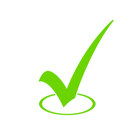 Green Check Mark Icon Archivio Fotografico - 34371525