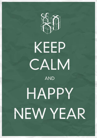 crumpled paper ball: Keep Calm And Happy New Year