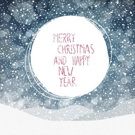 schneeflocke: Fallender Schnee. Frohe Weihnachten-Hintergrund Illustration