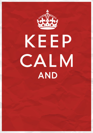 Keep Calm Crown Symbol On Cushion Royalty Free Cliparts Vectors